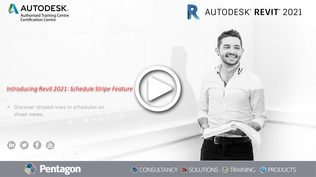 Introducing Revit 2021: Schedule Stripe Feature