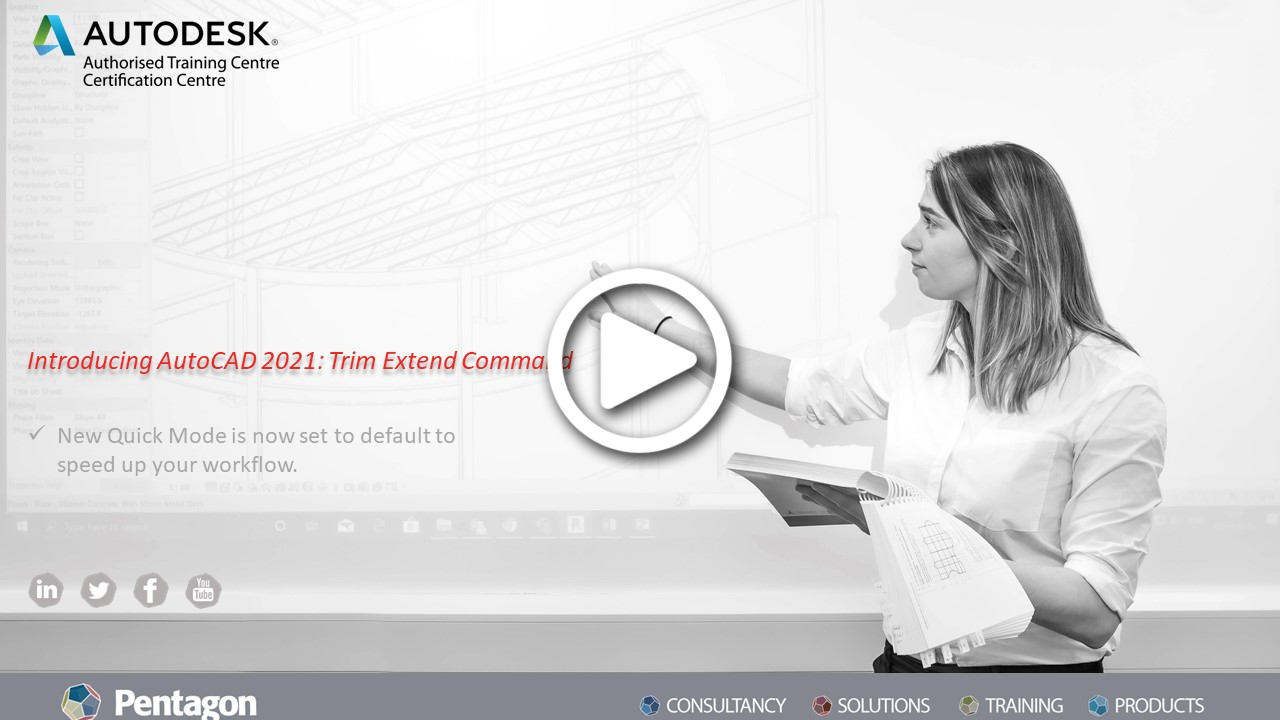Introducing AutoCAD 2021: Trim Extend Command