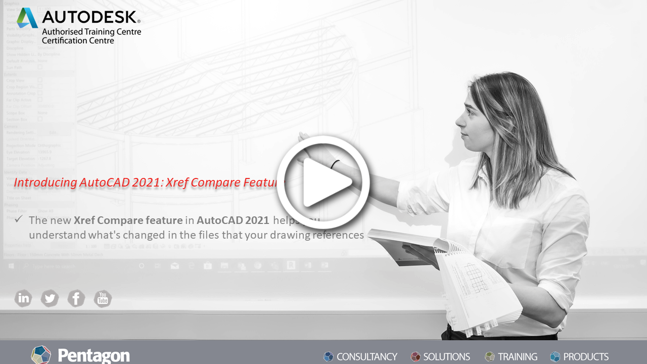 Introducing AutoCAD 2021: Xref Compare Tool